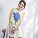 雙層A版藍玫瑰園領無袖洋裝 MDD160...