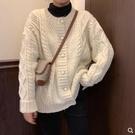 秋冬新款韓版麻花毛衣女冬寬鬆外穿冬季慵懶復古針織開衫外套