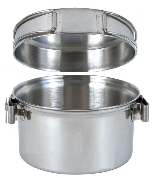 1-2人不鏽鋼輕便套鍋 採304不鏽鋼製造 質地堅硬 耐高溫 導熱快 節省燃料 KS-12