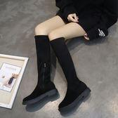 膝上靴 秋季女長筒過膝靴平底百搭韓版長靴薄靴子高筒網紅瘦瘦靴 koko時裝店