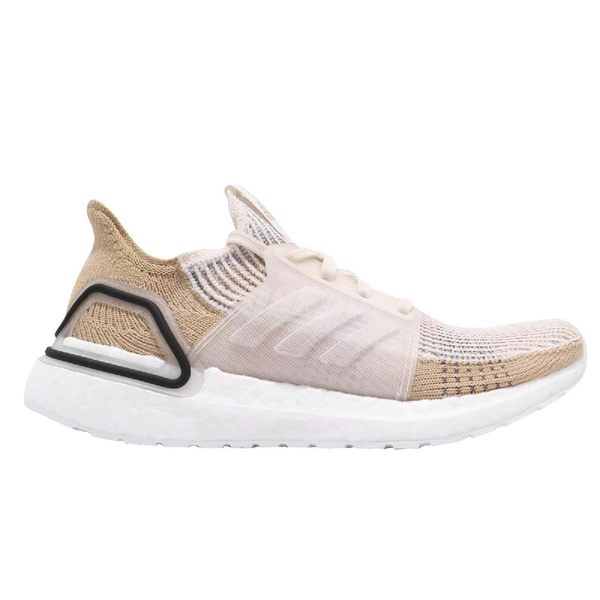 adidas 慢跑鞋 UltraBoost 19 W 米白 白 Primeknit 360 編織鞋面 頂級緩震舒適 女鞋 運動鞋【PUMP306】 B75878