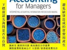二手書博民逛書店Accounting罕見for Managers: Interpreting Accounting Informa