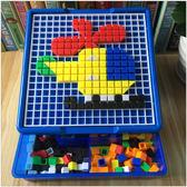 兒童玩具拼插積木早教益智蘑菇釘拼圖3-4-5-6周歲男女孩寶寶禮物
