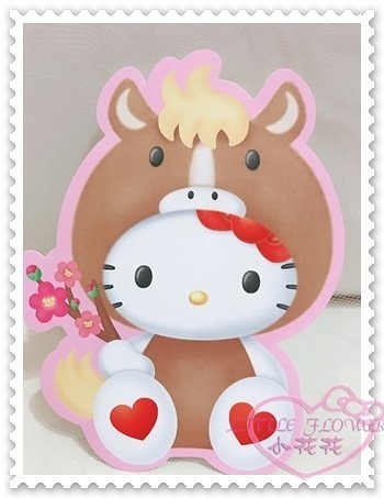 ♥小花花日本精品♥Hello Kitty 紅包袋坐姿愛心小馬造型新年必備過年必備4枚入日本限定 56808209