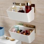 雙慶吸盤式收納架廚房免打孔牆上塑料壁掛架廁所衛生間浴室置物架【免運】