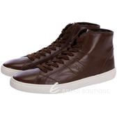 TOD'S 牛皮綁帶高筒休閒鞋(咖啡色) 1340159-07