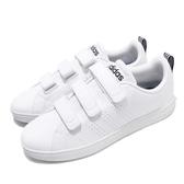 adidas 休閒鞋 Advantage CL CMF 白鞋 基本款 魔鬼氈 男鞋 女鞋 【PUMP306】 AW5211