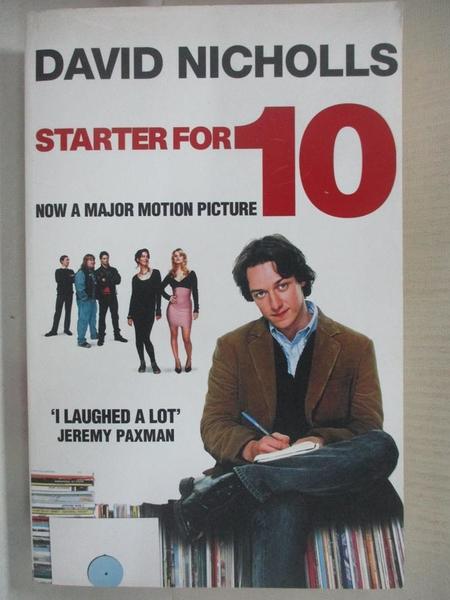 【書寶二手書T1/原文小說_AWX】Starter for Ten_David Nicholls
