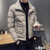 短款毛領ins工裝棉衣男2018新款冬季外套帥氣男士薄棉服冬裝棉襖HM 金曼麗莎