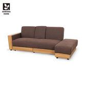 ♥多瓦娜 朵莉絲日式多功能置物咖啡色布沙發床 DOWANA1060 沙發 沙發床