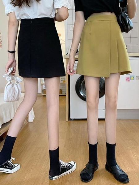 夏季A字包臀短裙女高腰顯瘦小個子裙子2021年新款夏天百摺半身裙 童趣屋 618狂歡