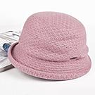 羊毛呢冬帽子-秋冬針織羊毛呢保暖防風防寒優雅淑女盆帽FLYSPIN(17AW-S002)