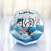 多面體個性斗魚缸創意桌面玻璃魚缸熱帶魚缸加厚超白魚缸