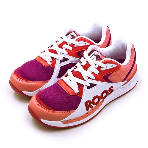 LIKA夢 KangaROOS 經典電繡LOGO復古慢跑鞋 RUNAWAY紅標袋鼠鞋系列 橘紫紅 91072 女