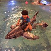 水上動物充氣坐騎兒童戲水玩具 鯊魚座騎兒童游泳圈【PINKQ】