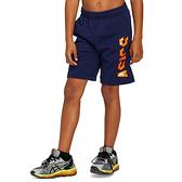 Asics [2034A310-402] 大童 運動 短褲 亞洲版 棉質 舒適 日常 休閒 穿搭 亞瑟士 深藍 橘