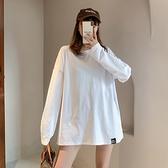 白色加絨加厚打底衫女秋冬內搭洋氣純棉長袖t恤女中長款百搭上衣 喵小姐