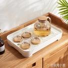 家用簡約多功能茶盤雙層可拆卸加深儲水托盤塑料瀝水茶具收納托盤 安妮塔小鋪