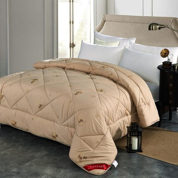 床包被套組冬季加厚保暖羊毛被100%純羊毛被子被褥單人被芯棉被雙人冬被4斤MJBL 中秋節禮物