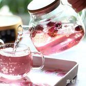 茶壺耐熱玻璃茶具花茶壺過濾家用燒水壺套裝 BF4697【旅行者】