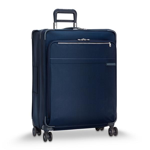 【終身保固 Briggs & Riley U128CXSP-5】擴充加大25%空間!Baseline 28吋可擴充四輪行李箱 (海軍藍)