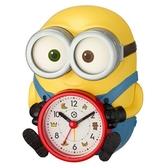 〔小禮堂〕小小兵 BOB 全身造型塑膠鬧鐘《黃藍.坐姿》桌鐘.時鐘 4903456-21556