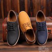 鞋子男透氣休閒鞋韓版板鞋潮上班工作單鞋防水運動鞋 潮男街