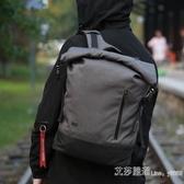 後背包男休閒時尚英倫背包大容量電腦包旅行包個性青年大學生書包 【快速出貨】
