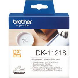 Brother DK-11218 白底黑字 原廠定型標籤帶 適用QL-500/550/570/580N/650TD/700/720NW/1050/1060N