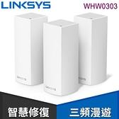 【南紡購物中心】Linksys Velop 三頻 AC2200 Mesh Wifi 網狀路由器《三入組》(WHW0303)