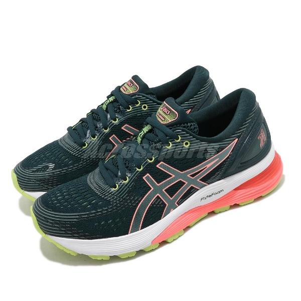 【六折特賣】Asics 慢跑鞋 Gel-Nimbus 21 綠 白 女鞋 運動鞋 【ACS】 1012A156300