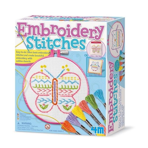 【4M】美勞創作DIY 刺繡創作家 Embroidery Stitches 00-02763