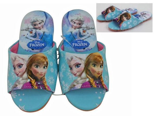 【卡漫城】 冰雪奇緣 室內拖鞋 藍 20/22 cm ㊣版 兒童 艾莎 安娜 Frozen 雪寶 氣墊 舒適 台灣製