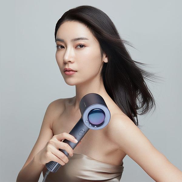 現貨直達 直白電吹風機110V髪型師理髪店專用電風吹負離子護發家用風筒 向日葵