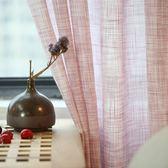 韓式窗簾窗紗成品加厚透光不透人紗簾落地臥室純色布料麻紗飄窗紗 最後一天85折