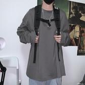 韓國ins復古基礎款純色秋季打底衫內搭男女長袖T恤 時尚潮流
