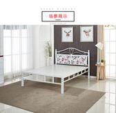 鐵床單人床鐵藝床1.8米鐵床架席夢思床