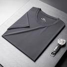 男士潮牌短袖T恤韓版潮流寬鬆冰絲速乾半袖夏季新款男裝體恤