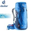 【Deuter 德國 FUTURA 26L 透氣網架背包《藍》】3400318/雙肩後背包/自助旅行/登山/專業輕量透氣背包