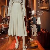長裙 Space Picnic|斜條壓紋親膚針織長裙(現+預)【C19101076】