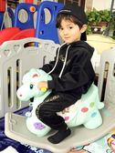 兒童搖搖馬帶音樂塑料大號加厚兩用嬰兒玩具1-2-6周歲寶寶 WD201 【旅行者】