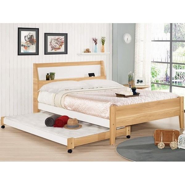 床架 床台 MK-663-1 卡爾5尺雙人床 (可調高低)(不含床墊子床) 【大眾家居舘】