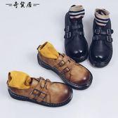 英倫學院風粗跟小皮鞋女2018秋冬日系厚底鬆糕單鞋中跟原宿牛津鞋