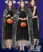 萬圣節服裝女大人cos黑色成人魔法女巫婆斗篷披風化妝舞會衣服 依凡卡時尚