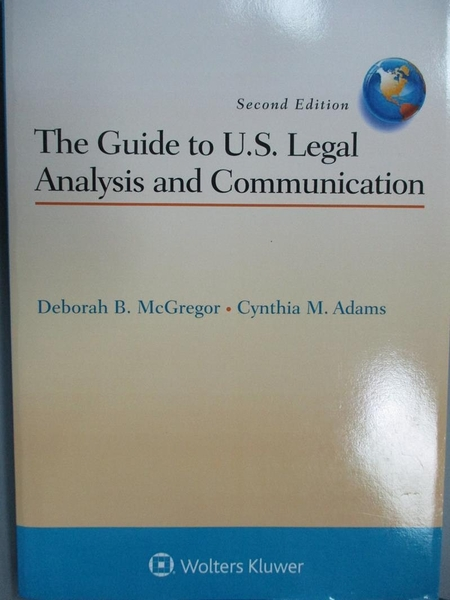 【書寶二手書T5/法律_ZCC】The Guide to U.s. Legal Analysis and Communi