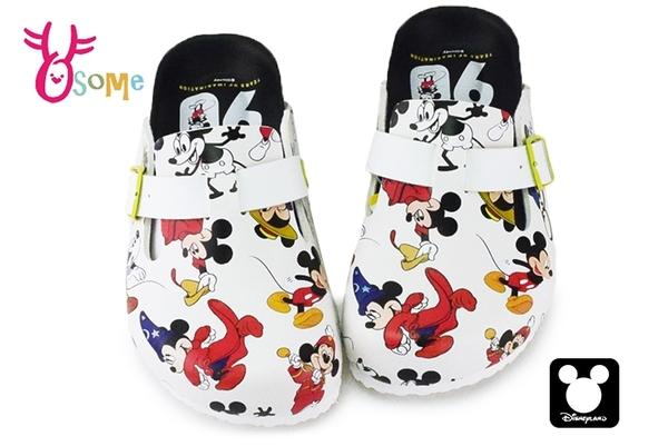 米奇90周年 印花兒童拖鞋 迪士尼 MIT 休閒鞋 F5291#白