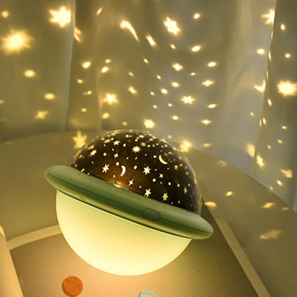 投影燈 USB多彩夢幻飛碟投影燈UFO恒星星空投影燈宇宙浪漫星空海洋小夜燈 韓菲兒