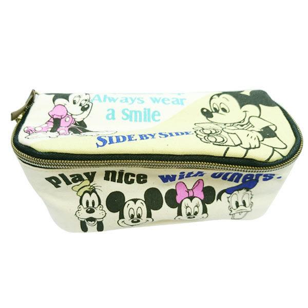 【日本進口正版】米奇 米妮 唐老鴨 B款 迪士尼系列 可展開 化妝包 收納包 Disney - 042597