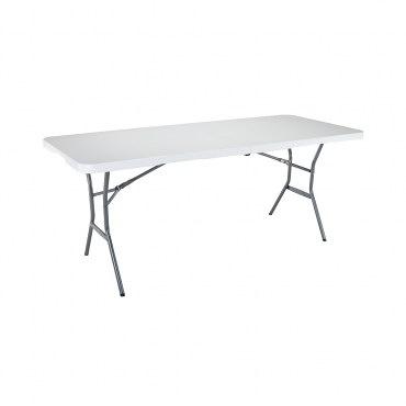 Lifetime 折疊長方桌 白色 塑膠 美國品牌 可折半 好收納 超強度耐用