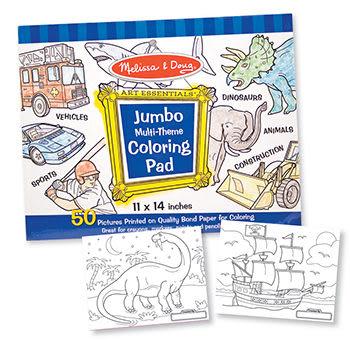 書立得-《美國 Melissa & Doug》大型兒童繪圖本:藍色(A0302)